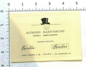 Borsalino HATS Trade Card c1920-30s Alfredo Radiconcini Roma Rome Italy