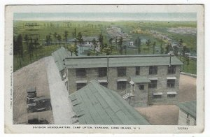 Yaphank, L. I., NY, Postcard View of Division Headquarters, Camp Upton, 1918