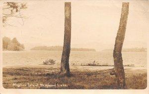 LPS36 Bristol New Hampshire Mayhew Island Newfound Lake Postcard RPPC