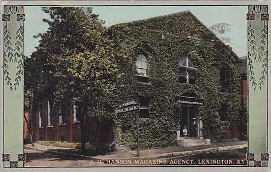 Kentucky Lexington J M Hanson Magazine Agency