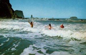 Surf Bathing,Washington Seacoast