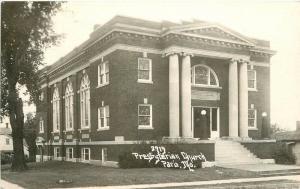 1920s Paris Missouri Presbyterian Church RPPC real photo postcard 18