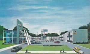 Classic Cars, Illustration of the Envoy Motel, Washington DC, 40-60's