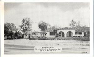 ROSEVILLE, CA  FLORIDA INN MOTEL  LINCOLN Highway   c1940s Roadside   Postcard