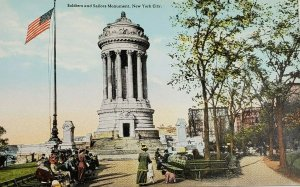c.1907-15 Soldiers & Sailors Monument, New York City, NY Postcard Unposted