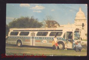 WASHINGTON DC SIGHTSEEING TOUR BUS VINTAGE POSTCARD