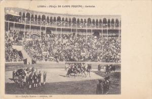Norway Lisboa Praca Do Campo Pequeno Cortezias Bullfighters Entering On Horse...