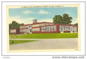 Agricultural Engineering, Clemson College, Clemson, South Carolina, 30-40s