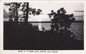 RP: Sunset , Clipsham Lodge , Sparrow Lake , MUSKOKA , Ontario , Canada , 1954