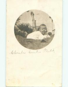Pre-1920 rppc OLD WEATHERVANE IN BACK Postmarked Shattuck By Woodward OK i8537