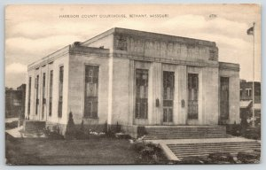 Bethany Missouri~Harrison County Art Deco Courthouse~American Art~1954 B&W PC