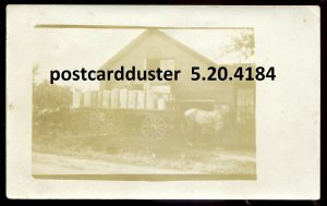 4184 - REAL PHOTO POSTCARD 1910s Delivery Wagon
