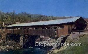 Taftsville, VT USA Covered Bridge Unused