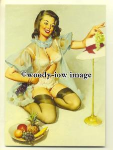 su1998 - Young Woman - Pin Up by artist Gil Elvgren - modern art postcard