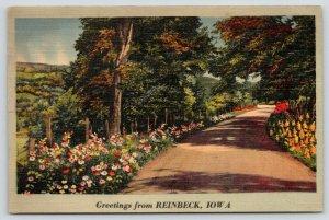 Reinbeck Iowa~Greetings From The Primrose Path~1941 Strosahal of Moline IL PC