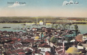 D'Andrinople Aerial Turkey Andrinople Antique Aerial Postcard