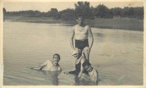 Social history real photo postcard photo Markoczy Miklos muscleman gay int.
