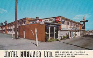 Hotel Burnaby Ltd. , NEW WESTMINSTER , B.C. , Canada , 40-60s