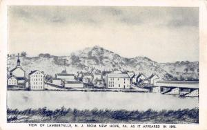 Lambertville New Jersey as it appeared in 1840 Vintage Postcard JB626585