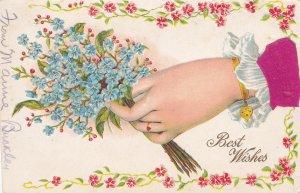 Hand w/ flowers , Best Wishes , 00-10s