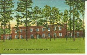 Henry County Memorial Hospital, Martinsville, Va.