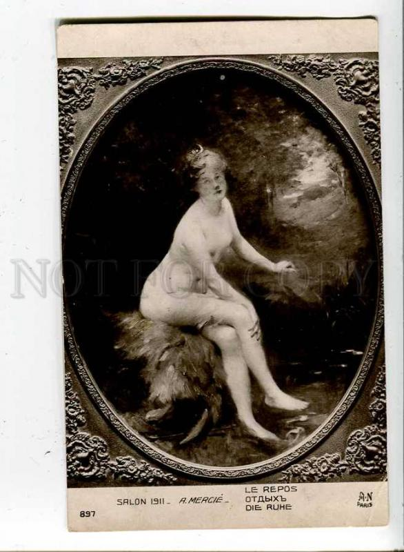 260766 NUDE Goddess DIANA Hunter Rest by MERCIE Vintage SALON