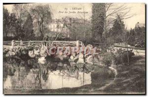 Old Postcard Sedan Bridge Botanical Garden
