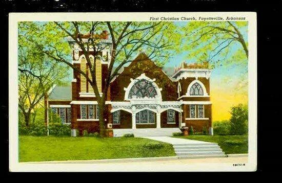 AR, Fayetteville, Arkansas, First Christian Church, Curtich