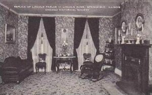 Illinois Chicago Replica of Lincoln Parlor Lincoln Home Chicago Historical So...