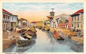 Manila Philippines Binondo Canal Manila Binondo Canal