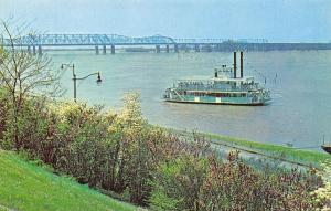 Memphis Tennessee~Memphis Queen II Excursion Boat~1960s Postcard