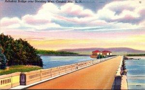 New York Catskills Ashokan Bridge Over Diividing Weir