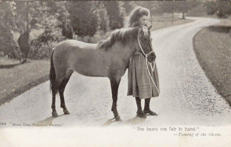 Girl and pony, Mine Own Familiar Friend, 1900-10s