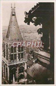 Modern Postcard Rouen (Seine INFRE) La Tour Saint Romain