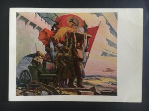 Mint 1928 USSR Soviet Union Postcard 1917 Communist Revolution Founded Soldiers