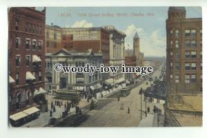 ft1395 - USA - Omaha , Nebraska - 16th Street looking north - postcard