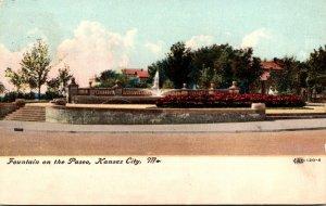 Missouri Kansas City Fountain On The Paseo 1908