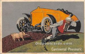 Advertising Postcard - Old Vintage Antique Continental Pneumatic 1917 Missing...