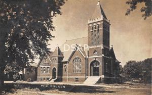 Illinois Il Postcard Real Photo RPPC 1907 ASSUMPTION M.E. Church Building