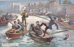 Old English Sports ; A Water tournament , 00-10s ; TUCK