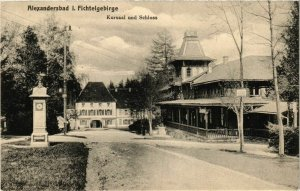 CPA AK Alexandersbad - Kursaal und Schloss GERMANY (965179)