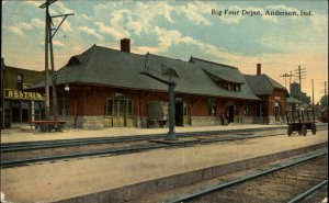Anderson IN Big Four RR Train Depot Station c1910 Postcard