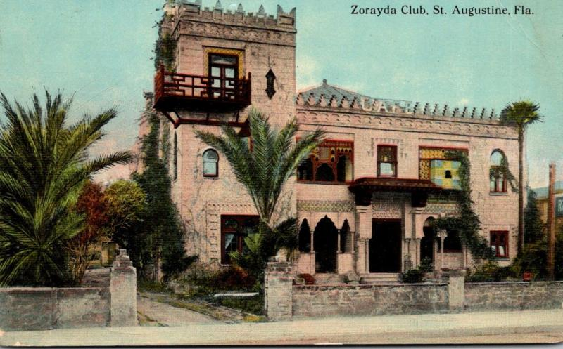 Florida St Augustine The Zorayda Club 1912