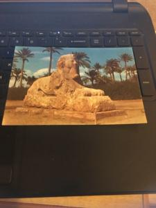 Vintage Postcard: Giza, the Sphynx of Sakkara