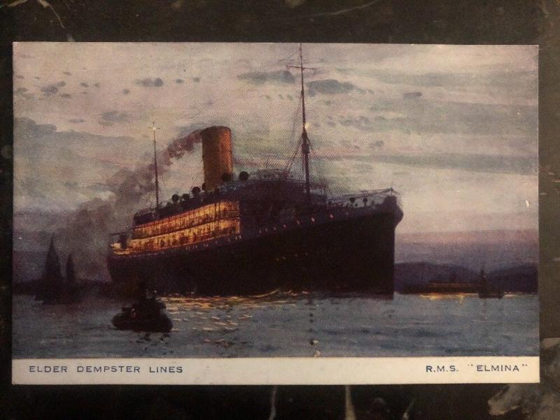 Mint England Picture Postcard RMS Elmina Passenger Ship Elder Dempster Lines