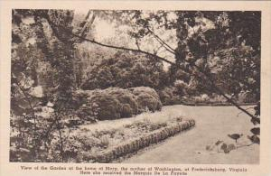 View Of The Garden At The Home Of Marry The Mother Of Washington At Frederick...