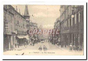 Nancy Old Postcard Rue Saint Jean