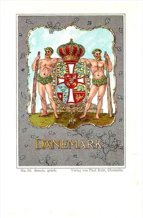 13174   Denmark Danemark  Royal Shield