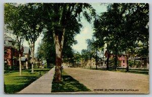 Utica New York~Genesee Street Homes From Noyes Street~Houses Both Sides~1910