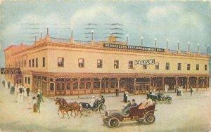 Autos Coney Island New York Henderson Restaurant 1911 Postcard 6373
